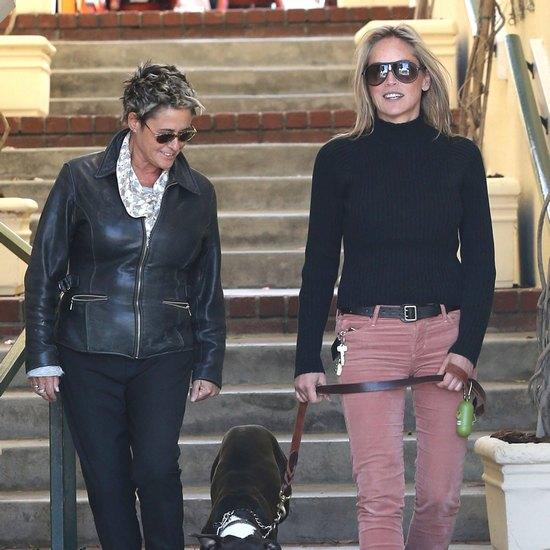 Sharon Stone na spacerze z pupilem (FOTO)
