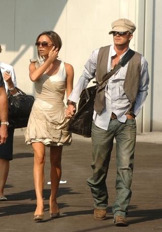 David i Victoria Beckham na gazie