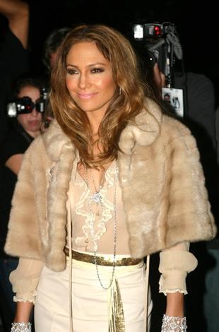 Jennifer Lopez na pokazie D&G