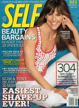 Jennifer Garner w Self Magazine