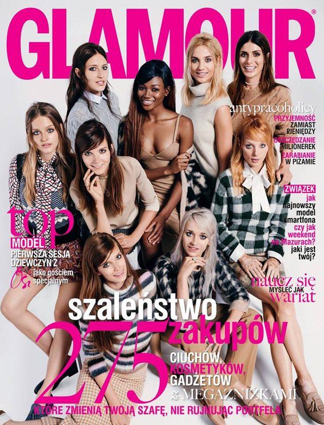 Uczestnicy 5. edycji Top Model na okładkach Glamour (FOTO)