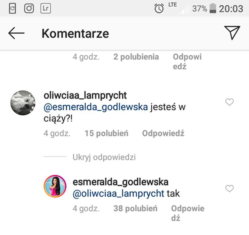 Esmeralda Godlewska potwierdziła CIĄŻĘ