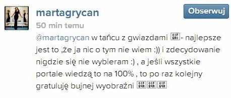 Marta Grycan o swoim udziale w Tańcu z gwiazdami