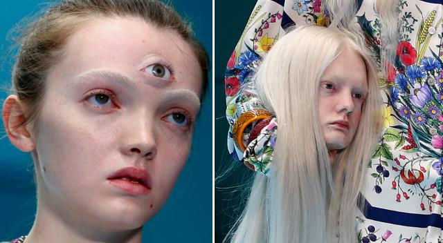 SZOKUJĄCY pokaz Gucci – modelki niosły SWOJE GŁOWY, inne miały troje oczu