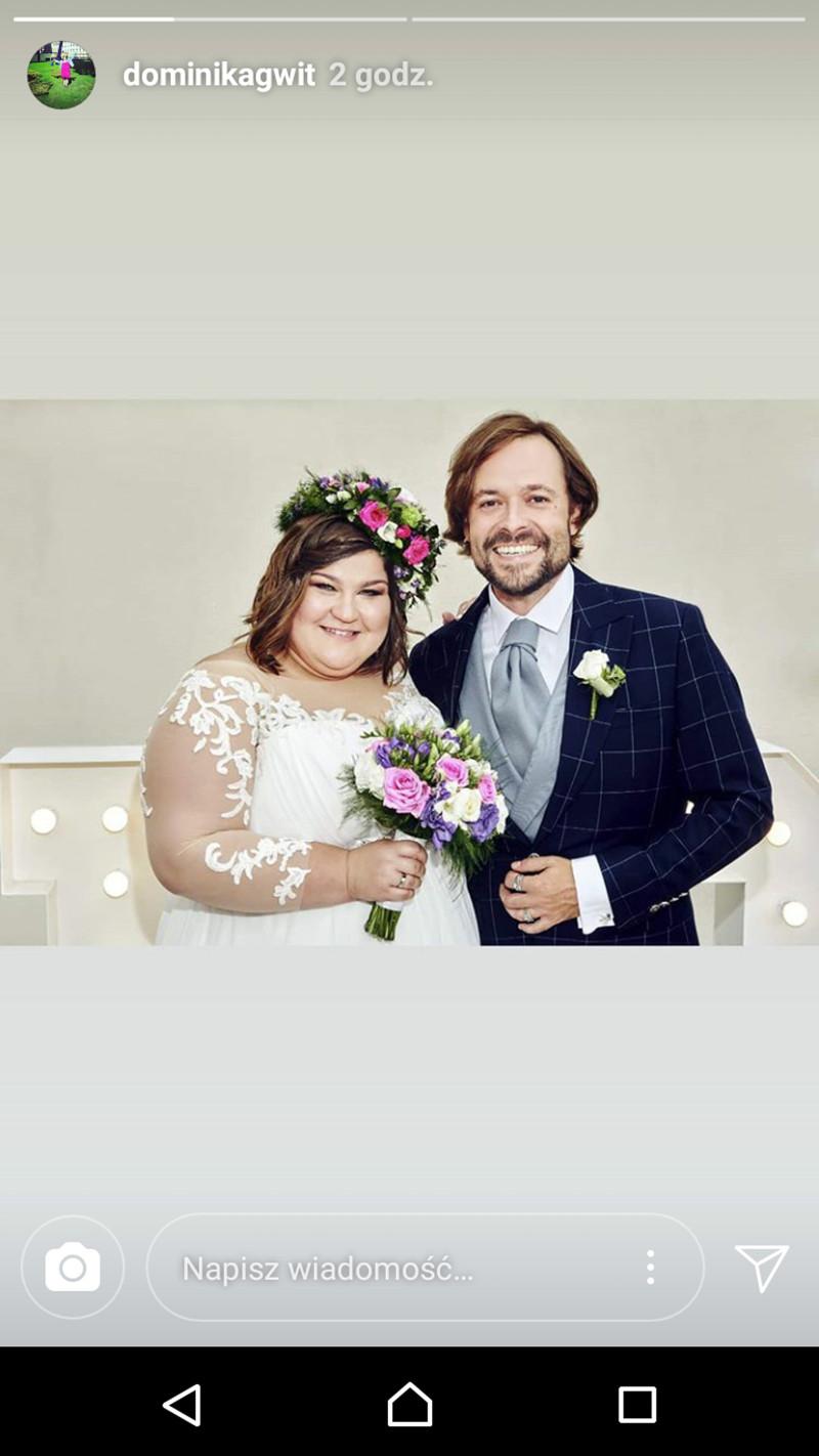 Dominika Gwit pokazała SUKNIĘ ślubną (Instagram)