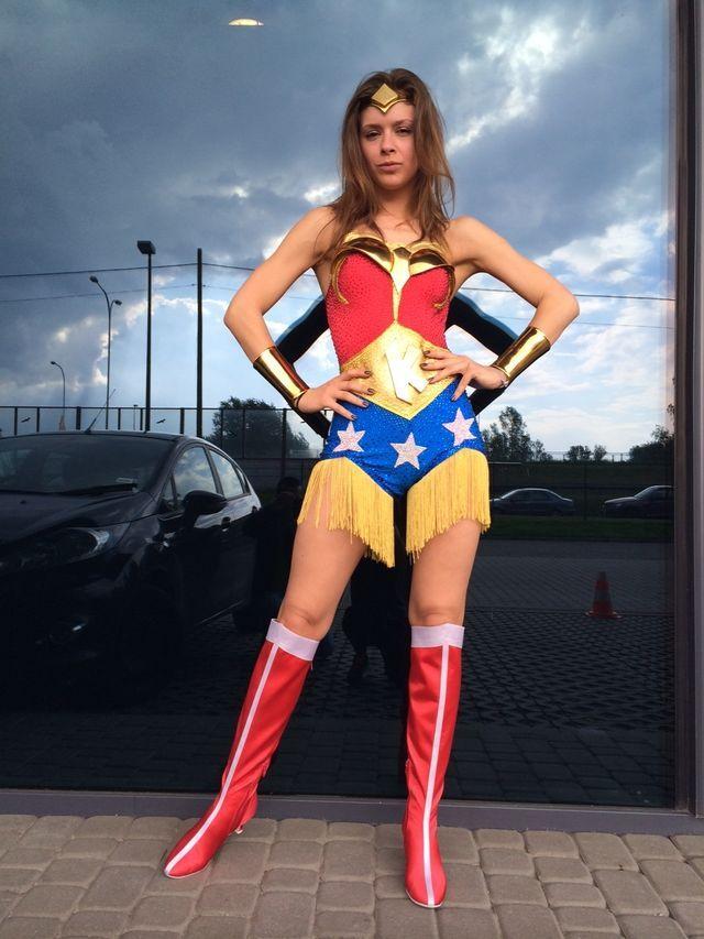 Klaudia Halejcio w nietypowym stroju w dzisiejszym TzG FOTO