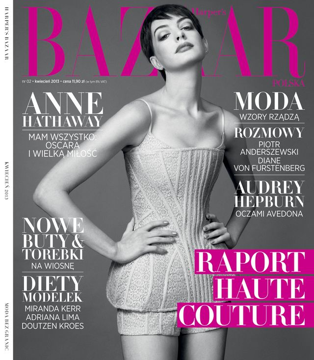Anne Hathaway w nowym numerze Harper's Bazaar (FOTO)