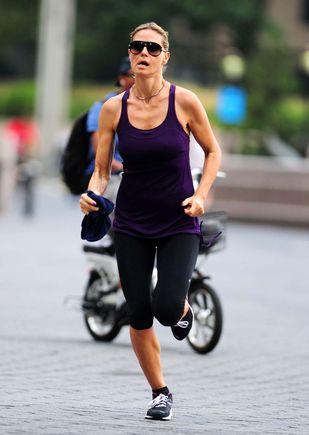 Heidi Klum biega, by zachować linię (FOTO)