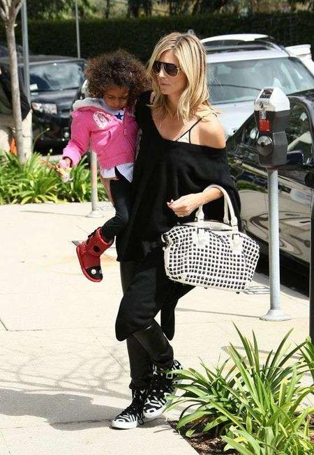 Heidi Klum sama zajmuje się dziećmi (FOTO)
