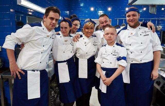 Katarzyna Skrzynecka i Piotr Gąsowski w Hell's Kitchen