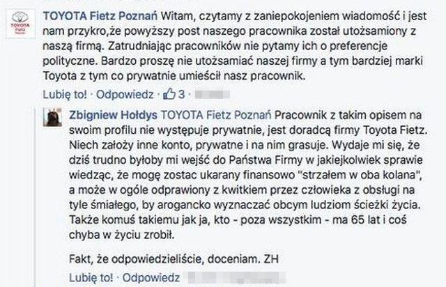 Internauta skrytykował Zbigniewa Hołdysa. Teraz przez to może stracić pracę!