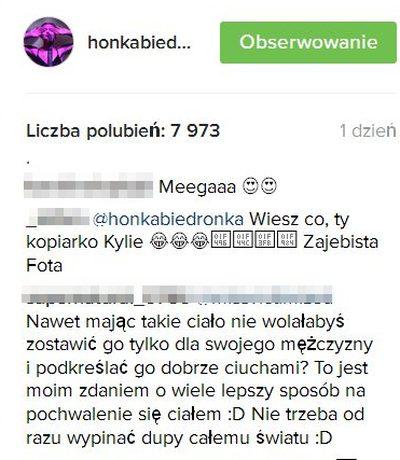 Honorata Skarbek pokaza�a wypi�t� pup� i wywo�a�a BURZ� (INSTAGRAM)