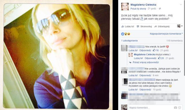 Magdalena Cielecka pochwaliła się... tatuażem!