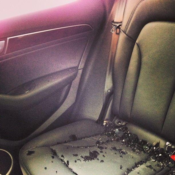 Rabuś włamał się do auta Somerhaldera