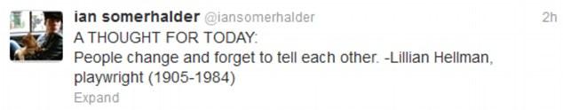 Nina Dobrev i Ian Somerhalder zerwali!