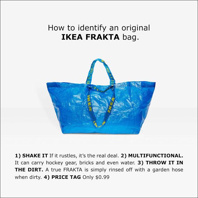 Balenciaga sprzedaje torbę wzorowaną na słynnej FRAKTA - reakcja Ikei BEZCENNA!
