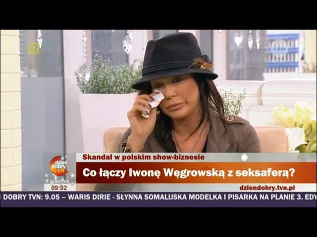 Iwona W�growska ociera �zy w telewizji �niadaniowej