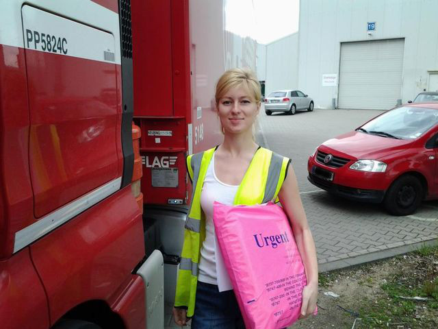 Iwona Blecharczyk - krucha blondynka za kierownicą tira