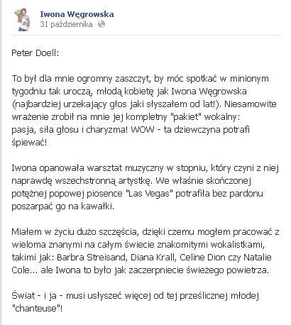 Iwona Węgrowska lepsza od Celine Dion?