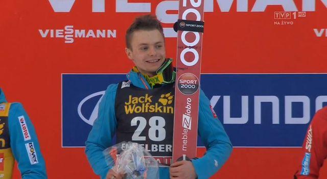 Jan Ziobro i wulgarny napis na jego nartach (FOTO)