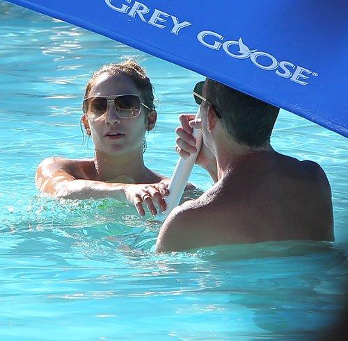 Jennifer Lopez w bikini z ukochanym i dzie�mi (FOTO)