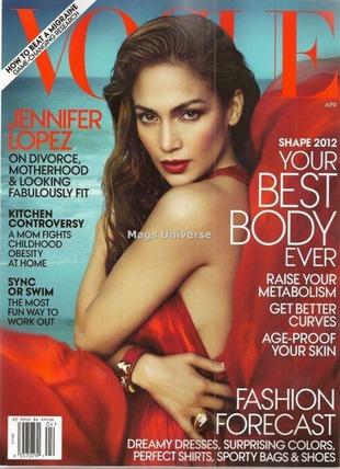 Jennifer Lopez bohaterką kwietniowego Vogue (FOTO)