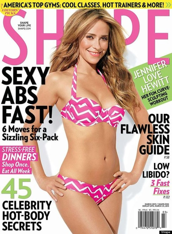 Seksowna Jennifer Love Hewitt na okładce Shape (FOTO)