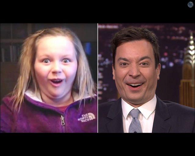 Fallon i Law robią naśladują głupie miny dzieci [VIDEO]