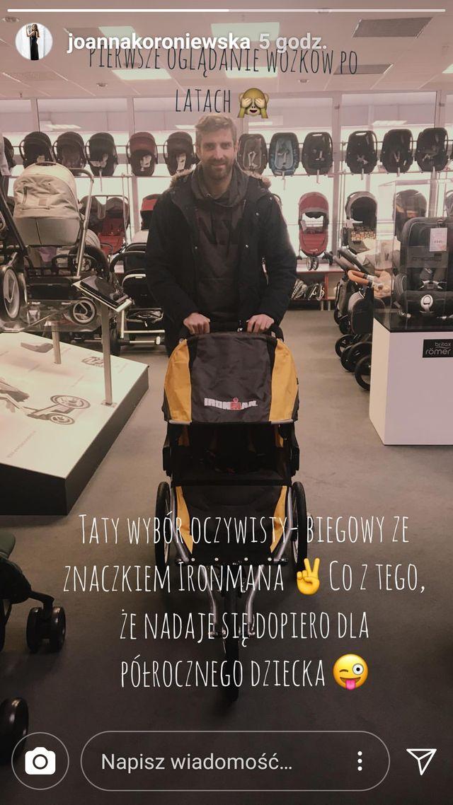 Koroniewska i Dowbor sami sobie kupują wózek dla dziecka (Instagram)