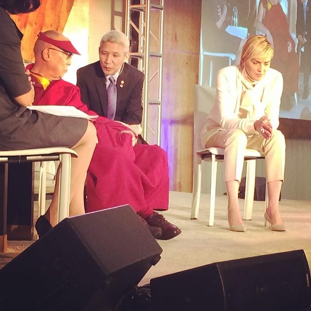 Joanna Krupa spotkała się z Dalaj Lamą