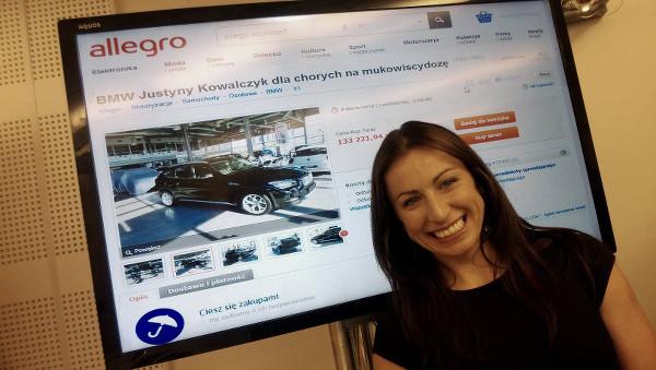 Justyna Kowalczyk odda�a BMW �miertelnie chorym dzieciom