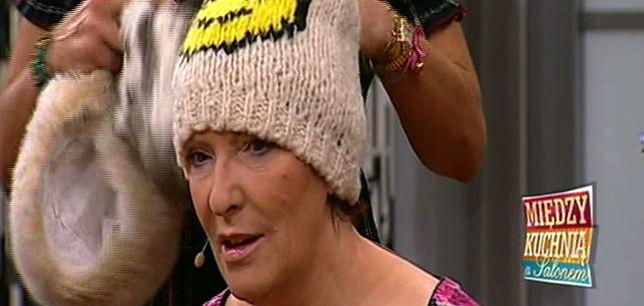 Minister Ewa Kopacz w czapce z buźką (FOTO)