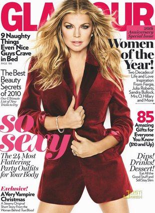 Fergie nie do poznania na okładce Glamour (FOTO)