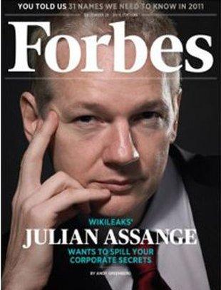 Julian Assange człowiekiem roku magazynu TIME…