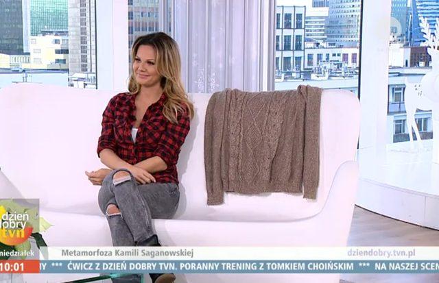 Kamila Saganowska i sweter, który nosiła przed schudnięciem