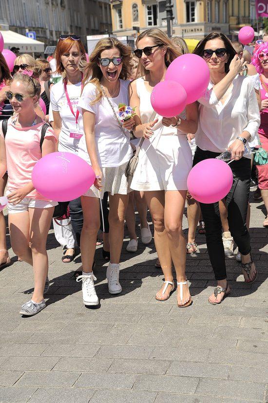 Socha i Koroniewska na Marszu Różowej Wstążki (FOTO)