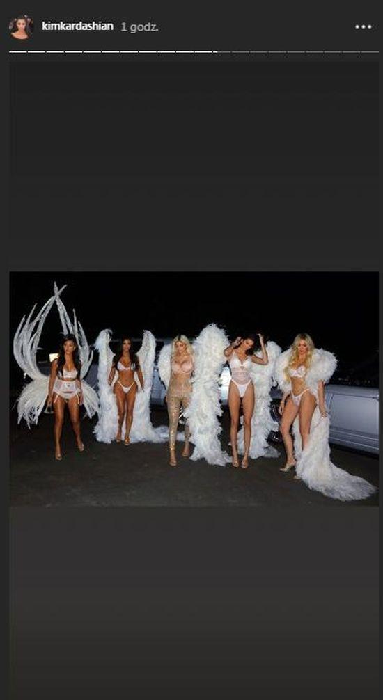 Siostry Kardashian - Jenner jako aniołki Victoria's Secret na Halloween