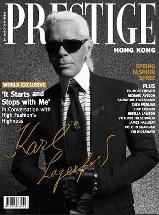Karl Lagerfeld dla Prestige