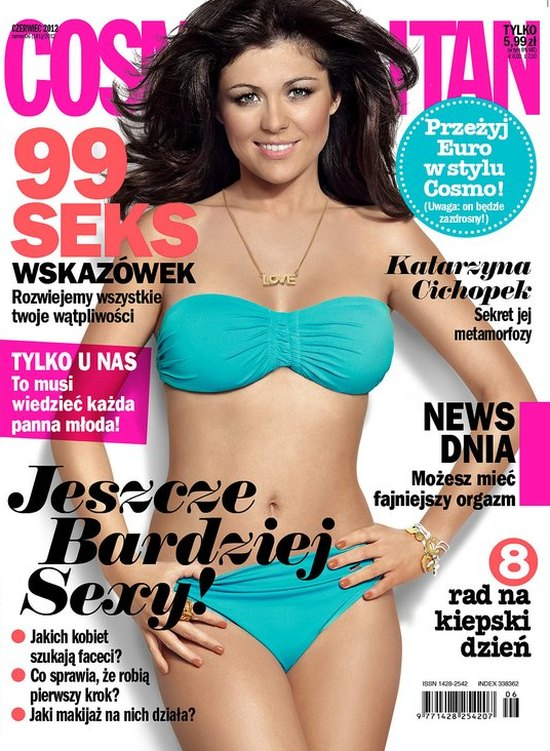 Kasia Cichopek w bikini na okładce Cosmopolitan (FOTO)