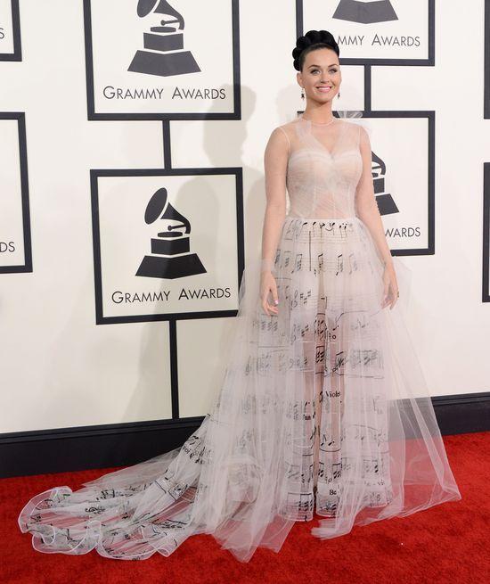 Plejada gwiazd na rozdaniu nagród Grammy (FOTO) katy-perry suknia