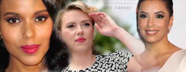 Scarlett Johansson Eva Longoria Kerry Washington