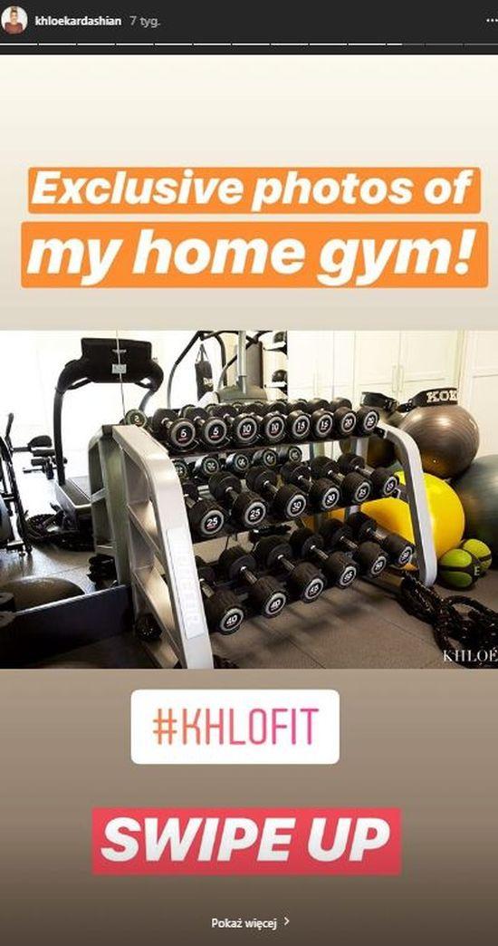 Khloe Kardashian przesiaduje w siłowni zamiast zająć się córką: To moje SANKTUAR