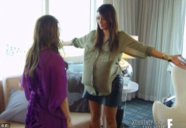 Jak Kim Kardashian będzie wyglądać z ciążowym brzuchem?
