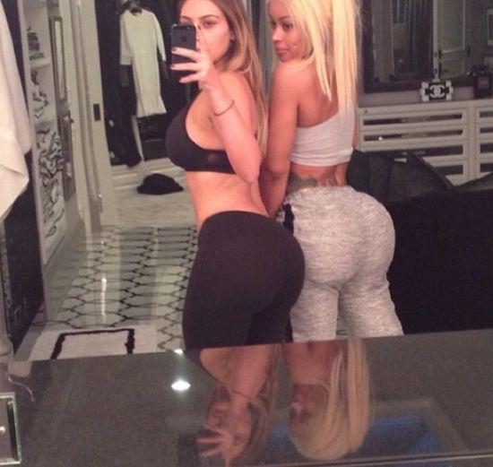 Kim Kardashian i Blac Chyna chwalą się pupami (FOTO)