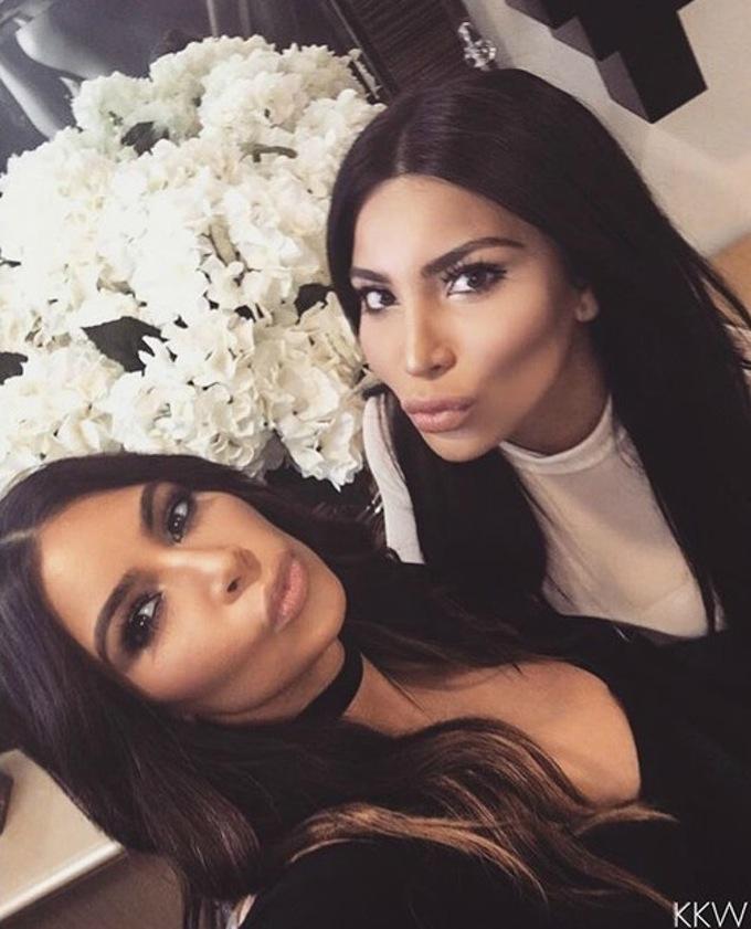 Kim spotkała się ze swoją sobowtórką (FOTO)