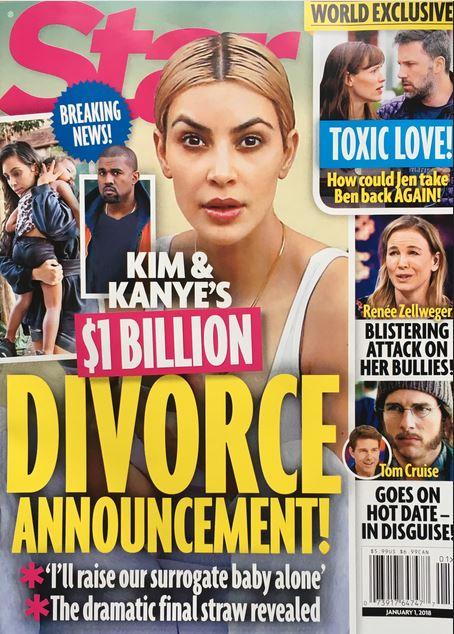 Zaraz po narodzinach trzeciego dziecka, Kim zażąda rozwodu z Kanye