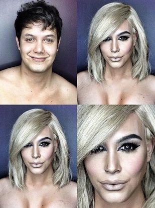 Paolo Ballesteros potrafi przeobrazić się w Kim Kardashian