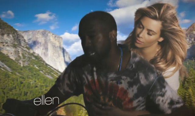 Naga Kim Kardashian w teledysku Kanye Westa