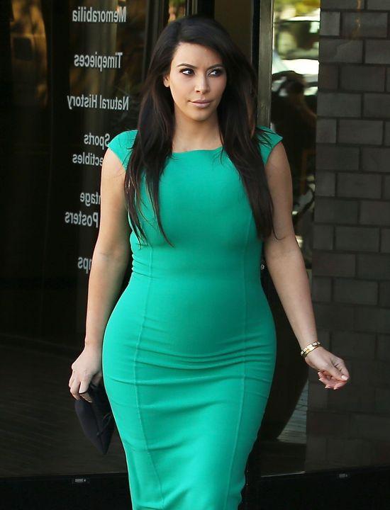 Zielona i sama Kim Kardashian