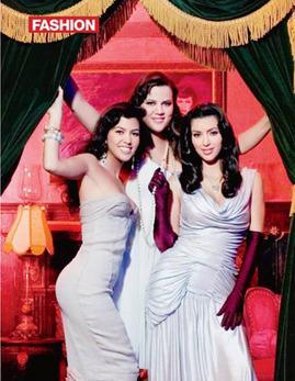 Panny Kardashian dla OK! Magazine